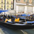 Venecian gondolas.Italian. — Stock Photo