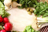 Vegetables frame — Stock Photo