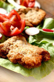 Chicken schnitzel — Stock Photo
