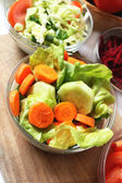 Carrots and cucumbers salad — Stock Photo