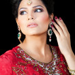Portrait of a beautiful Indian bride - Foto Stock