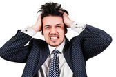 Portrait of angry businessman — Stock Photo