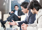 Businessmen in meeting — Stock Photo