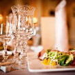 Empty glasses set in restaurant — Stock Photo #10702201