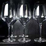 Empty glasses set in restaurant — Stock Photo #10702258