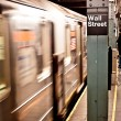 New York subway, Wall street station - Stock Photo