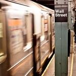 New York subway, Wall street station — Stock Photo