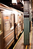 New York subway, Wall street station — Stock Photo