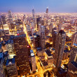Luftbild von Chicago downtown — Stockfoto