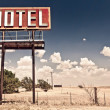 Foto Stock: Old motel sign