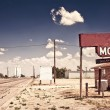 Old motel sign - Stock Photo
