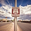 Historic route 66 route sign — Stock Photo