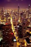 Downtown chicago havadan görünümü — Stok fotoğraf