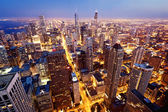 Luchtfoto van chicago downtown — Stockfoto