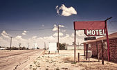 Vecchia insegna motel — Foto Stock