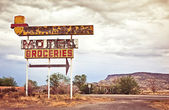 Old motel sign — Foto Stock