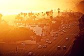 Pôr do sol rua — Foto Stock