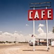 Cafe sign along historic Route 66 in Texas. — Stock Photo #8574850