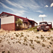 Abandoned restaraunt on route 66 road in USA — Stock Photo #8575577