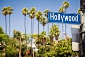 Hollywood logga in la — Stockfoto