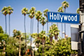 Hollywood signer dans la — Photo