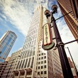 Chicago downtown at theatre district — Stock Photo
