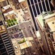 Stock Photo: Aerial view of Chicago downtown
