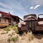ristorante abbandonato lungo via route 66 negli usa — Foto Stock #9117719