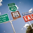 Route 66 intersection signs — Stock Photo #9117728