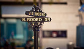 Rodeo Drive sign — Stockfoto
