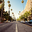Palm streets of Beverly Hills — Stock Photo