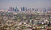 Horizonte no centro de los angeles — Foto Stock