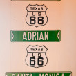 Route 66 signs - Stock Photo