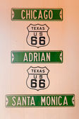 Route 66 signs — Stock Photo