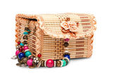 Jewelry box withaccessory — Stock Photo