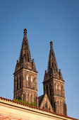 Towers of Vysehrad — Stock Photo