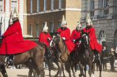 Queen's horse guards — Stockfoto
