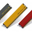 Stock Vector: Set of DDR3 memory modules