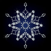 Snowflake made from diamonds. — Stock Vector