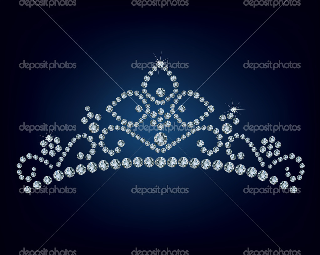 Diamond tiara - vector illustration  — Stock Vector #8457393