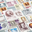 Russian postage stamps — Stock Photo