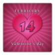 The calendar sheet for Valentine's day. - Stock Photo