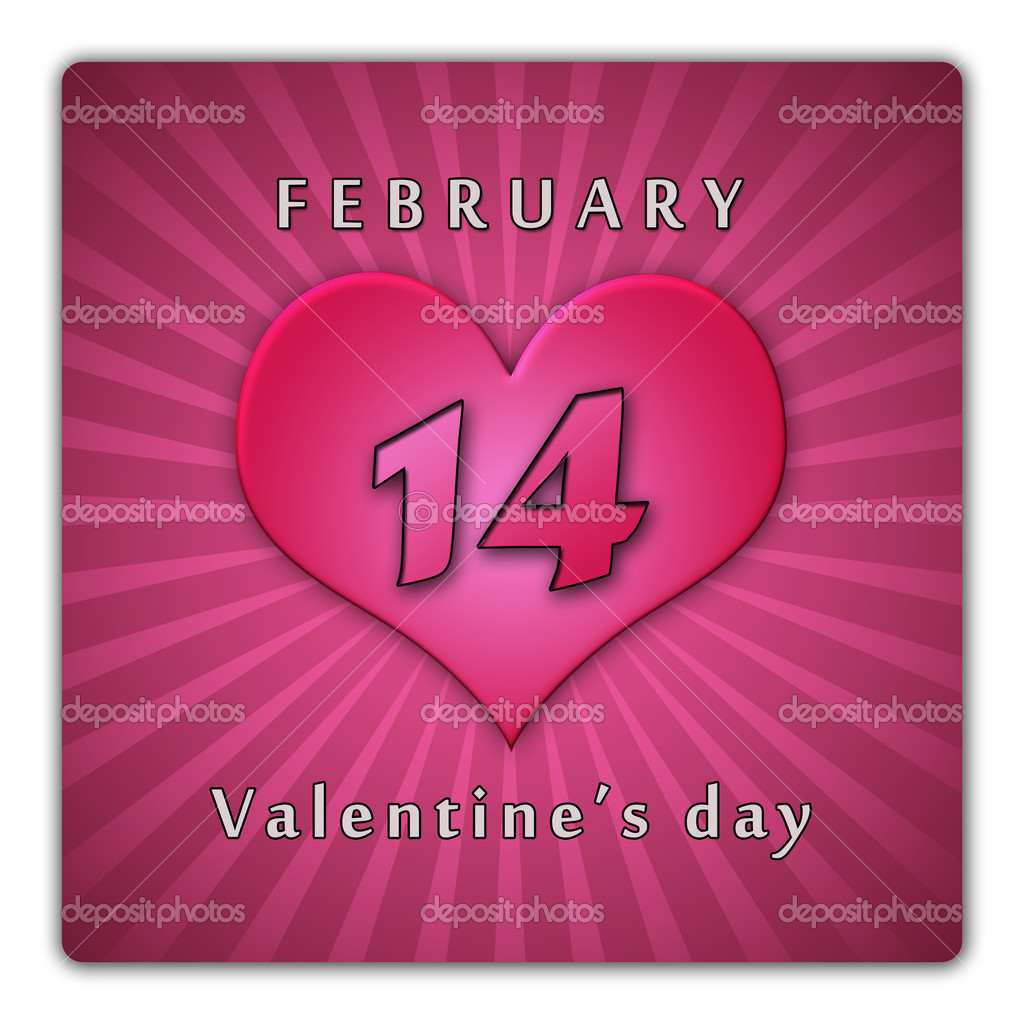 The calendar sheet for Valentine's day. — Foto de Stock   #8116627