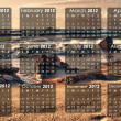 2012 year calendar — Stock Photo