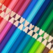 Crayons in a row — Stock Photo