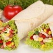 Chicken Wraps — Stock Photo