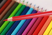 Red crayon — Foto Stock