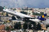 Lufthansa Cargo McDonnell Douglas MD-11F — Stock Photo