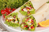 Chicken Wrap Sandwiches — Stock Photo