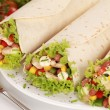 Stock Photo: Chicken Wrap Sandwiches